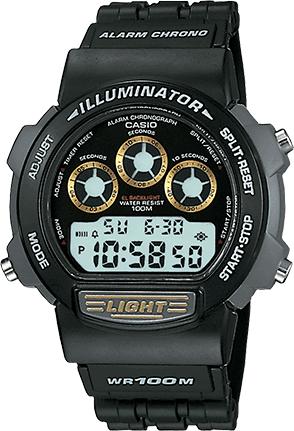 Casio cinturino orologio 71602198 Plastica Nero 19mm
