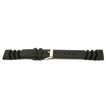 Cinturino orologio Gomma 20mm Nero EX 6