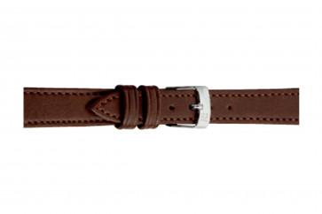 Morellato cinturino dell'orologio Point Grana ECO D0112419034CR08 / PMD034POINTE08 Cuoio morbido Marrone scuro 8mm + cuciture di default