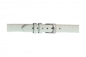 Morellato cinturino dell'orologio Thin D2860656017CR08 / PMD017THINA08 Pelle di coccodrillo Bianco 8mm