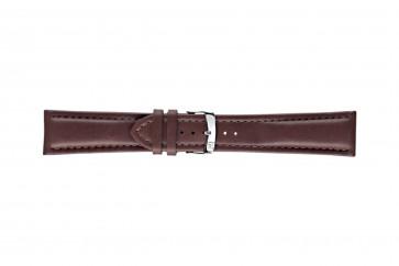 Morellato cinturino dell'orologio Wide U4026A37034CR26 / PMU034WIDE26 Cuoio morbido Marrone scuro 26mm + cuciture di default