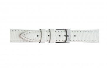 Morellato cinturino dell'orologio Violino Gen.Lizard X2053372017CR10 / PMX017VIOLIN10 In pelle di lucertola Bianco 10mm + cuciture di default