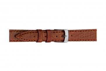 Morellato cinturino dell'orologio Violino Gen.Lizard X2053372041CR08 / PMX041VIOLIN08 In pelle di lucertola Marrone 8mm + cuciture di default
