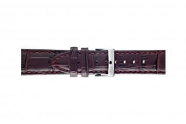 Morellato cinturino dell'orologio Bolle X2269480181CR24 / PMX181BOLLE24 Pelle di coccodrillo Bordò 24mm + cuciture di default