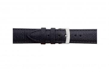 Morellato cinturino dell'orologio Ibiza X3266773019CR12 / PMX019IBIZA12 In pelle di lucertola Nero 12mm + cuciture di default