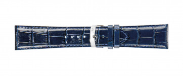 Morellato cinturino dell'orologio Extra X3395656062CR30 / PMX062EXTRA30 Pelle di coccodrillo Blu 30mm + cuciture di default