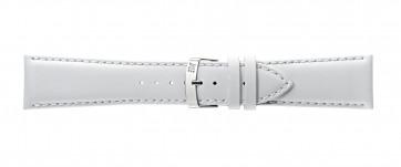 Morellato cinturino dell'orologio Extra Napa X3395875017CR28 / PMX017EXTRAN28 Pelle Bianco 28mm + cuciture di default