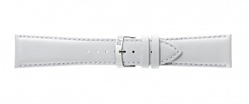 Morellato cinturino dell'orologio Extra Napa X3395875017CR26 / PMX017EXTRAN26 Pelle Bianco 26mm + cuciture di default
