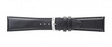 Morellato cinturino dell'orologio Extra Napa X3395875019CR30 / PMX019EXTRAN30 Pelle Nero 30mm + cuciture di default