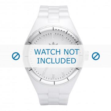 Adidas cinturino dell'orologio ADH2124 / ADH2033 / ADH2123 Gomma Bianco 13mm