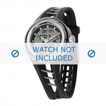 Adidas cinturino dell'orologio ADP1040 Gomma / plastica Nero