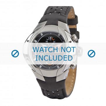 Adidas cinturino dell'orologio ADP1466 Pelle Nero + cuciture nero