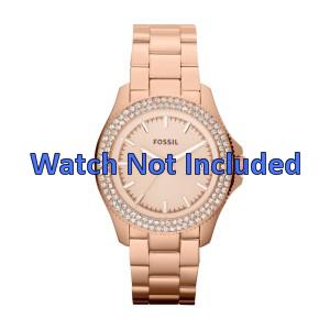 Fossil cinturino orologio AM4454 Acciaio Oro (Rosé) 18mm