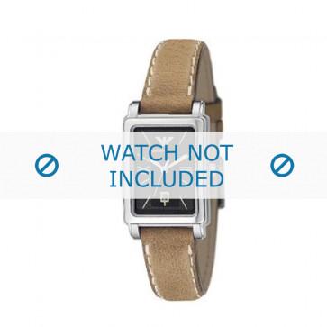 Armani cinturino orologio AR-0134 Pelle Marrone chiaro 14mm + cuciture bianco