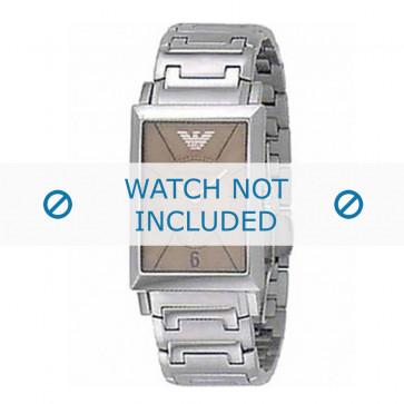 Armani cinturino orologio AR-0139 Acciaio Argento 20mm