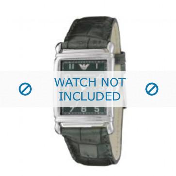Armani cinturino orologio AR-0215 Pelle di coccodrillo Verde 22mm