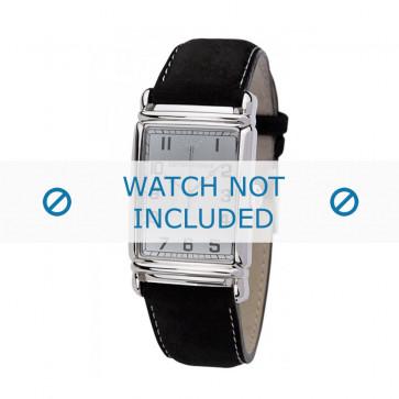 Armani cinturino orologio AR-0233 Pelle Nero 26mm + cuciture bianco