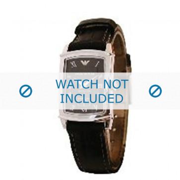 Armani cinturino orologio AR-0240 Pelle di coccodrillo Nero 16mm