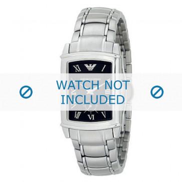 Armani cinturino orologio AR-0245 Acciaio Argento 21mm