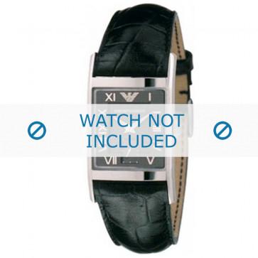 Armani cinturino orologio AR-0247XL Pelle di coccodrillo Nero 22mm