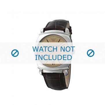 Cinturino per orologio Armani AR0264 Pelle Marrone 24mm
