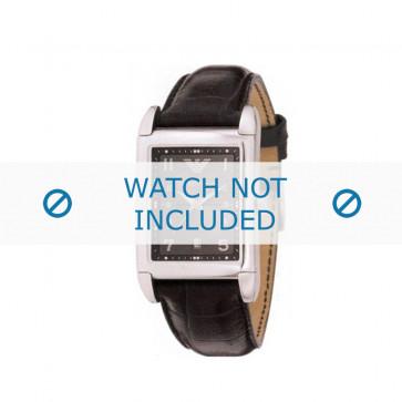 Armani cinturino orologio AR-0272 Pelle di coccodrillo Nero 22mm