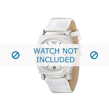 Armani cinturino orologio AR-0287 Pelle di coccodrillo Bianco 24mm