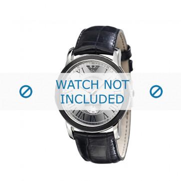 Armani cinturino orologio AR-0463 Pelle di coccodrillo Nero 24mm