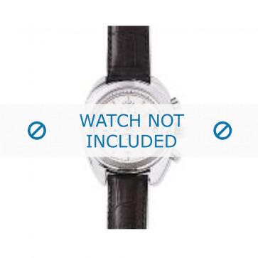 Armani cinturino orologio AR-0500 Pelle di coccodrillo Nero 17mm