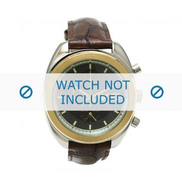Armani cinturino orologio AR-0501 Pelle di coccodrillo Marrone scuro 18mm