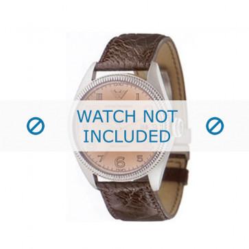 Armani cinturino orologio AR-0510 Pelle di coccodrillo Nero 23mm
