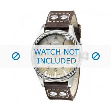 Cinturino per orologio Armani AR0513 Pelle Grigio antracite 23mm