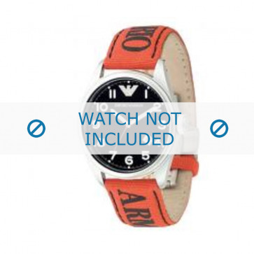 Armani cinturino orologio AR-0515 Tessuto Arancione 23mm