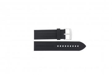 Cinturino per orologio Armani AR0527 / AR5826 / Vanille Silicone Nero 23mm