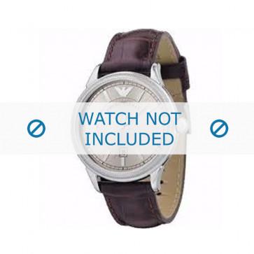Armani cinturino dell'orologio AR0540 Pelle Bordò 21mm + cuciture marrone