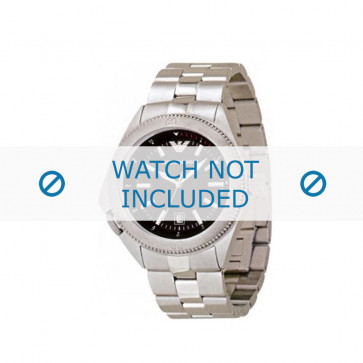 Armani cinturino orologio AR-0560 Acciaio Argento 23mm