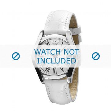 Armani cinturino orologio AR-0697 Pelle Bianco 18mm