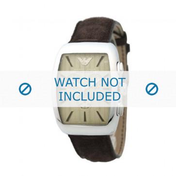 Armani cinturino orologio AR-0908 Pelle Marrone 21mm