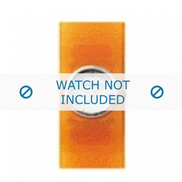 Armani cinturino orologio AR-1007 Gomma Arancione 25mm