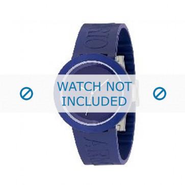 Armani cinturino orologio AR-1031 Gomma Blu 22mm