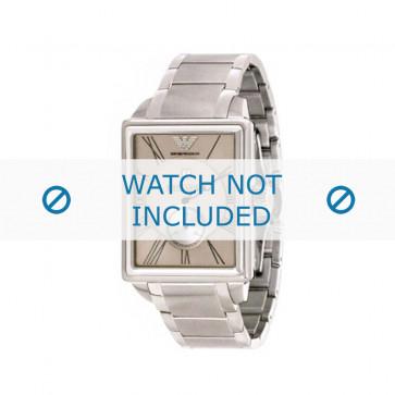 Armani cinturino orologio AR-4207 Acciaio Argento 22mm