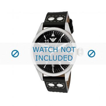 Cinturino per orologio Armani AR5834 Pelle Nero 23mm