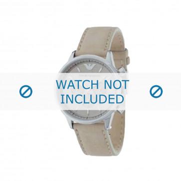 Armani cinturino orologio AR-0619 Pelle Bianco crema 20mm