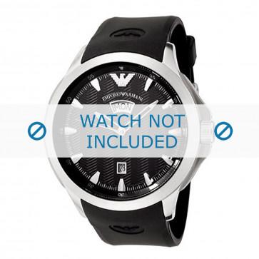 Cinturino per orologio Armani AR0631 / AR0634 Silicone Nero 23mm
