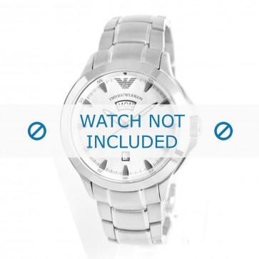Armani cinturino dell'orologio AR0633 Metallo Argento 23mm