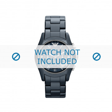 Armani cinturino dell'orologio AR1469 Ceramica Blu 22mm