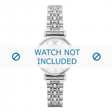 Armani cinturino dell'orologio AR1925 Metallo Argento 14mm