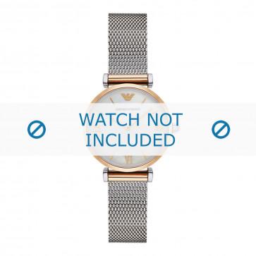 Armani cinturino dell'orologio AR2068 Metallo Argento 14mm