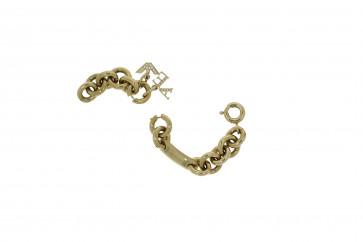Cinturino per orologio Armani AR5716 Acciaio Placcato oro 13mm