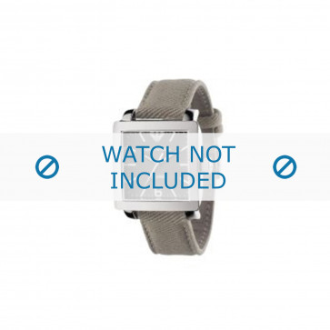 Armani cinturino dell'orologio AR5805 Tessuto Grigio 24mm